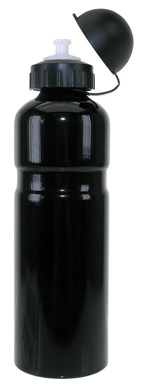 Bidón de aluminio negro