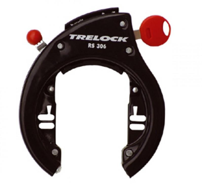 Candado Trelock RS306 negro para cuadro.